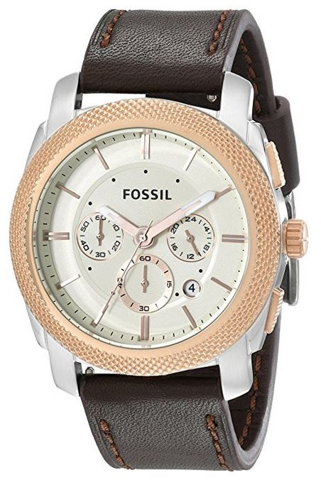 Fossil (Open Box) Machine Chronograph Leather Mens Watch FS5040