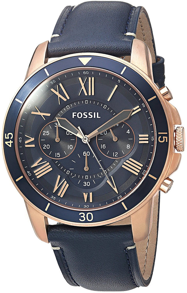 Fossil Grant Sport Chronograph Leather Mens Watch