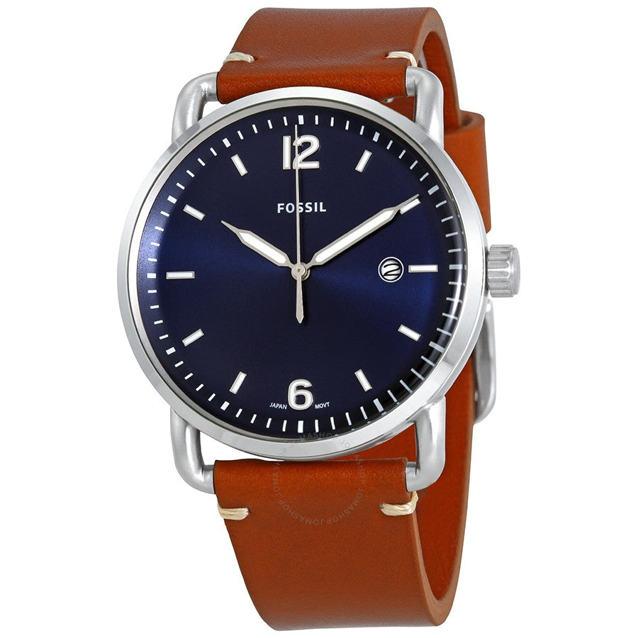 Fossil Commuter Leather Mens Watch