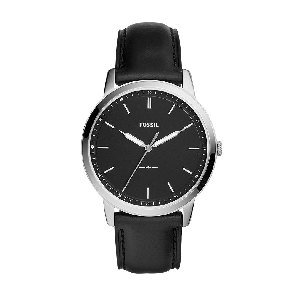 Fossil Minimalist Leather Mens Watch