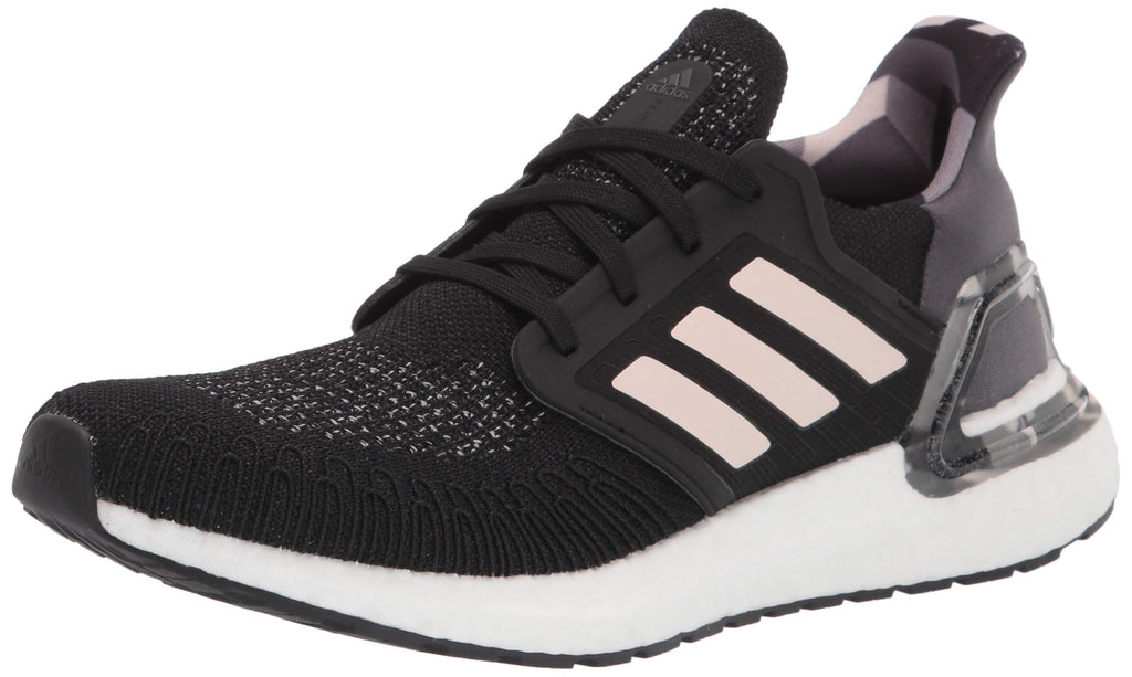 adidas Womens Ultraboost 20 Shoes - Black/Pink Tint/Grey - 6