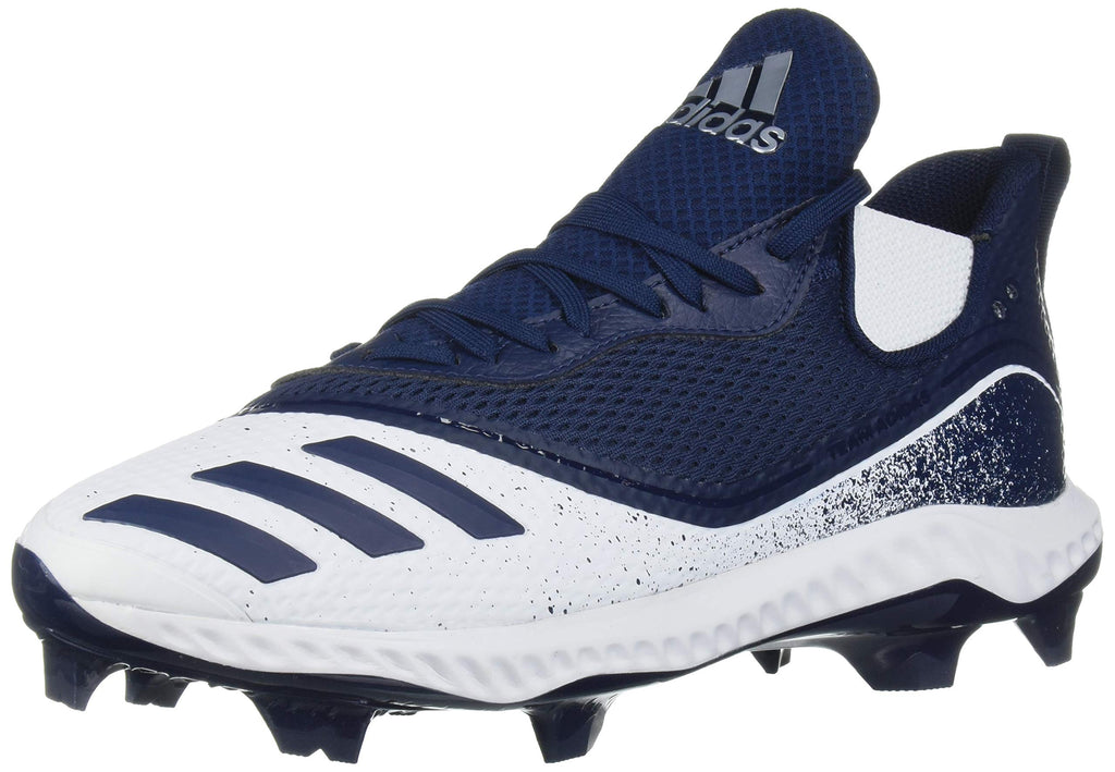 adidas Mens Icon V Bounce TPU Cleats Baseball Shoe - FTWR White/Collegiate Navy/Collegiate Navy - 10