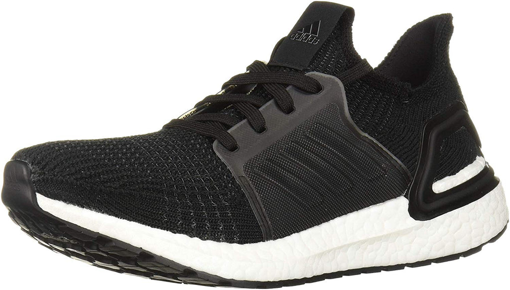 adidas Womens Ultraboost 19 Running Shoe - Black/Grey/Solar Orange - Size: 7