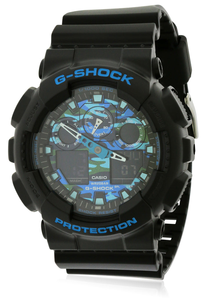 Casio G-Shock Black and Blue Mens Watch