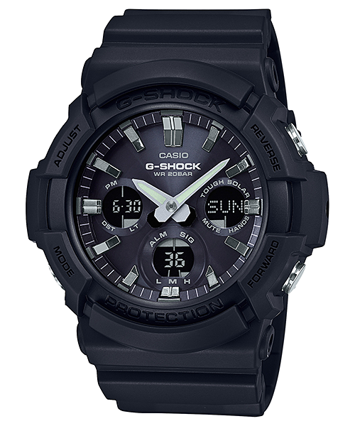 Casio G-SHOCK NEW BIG CASE SOLAR BLACK IP BLACK BEZEL