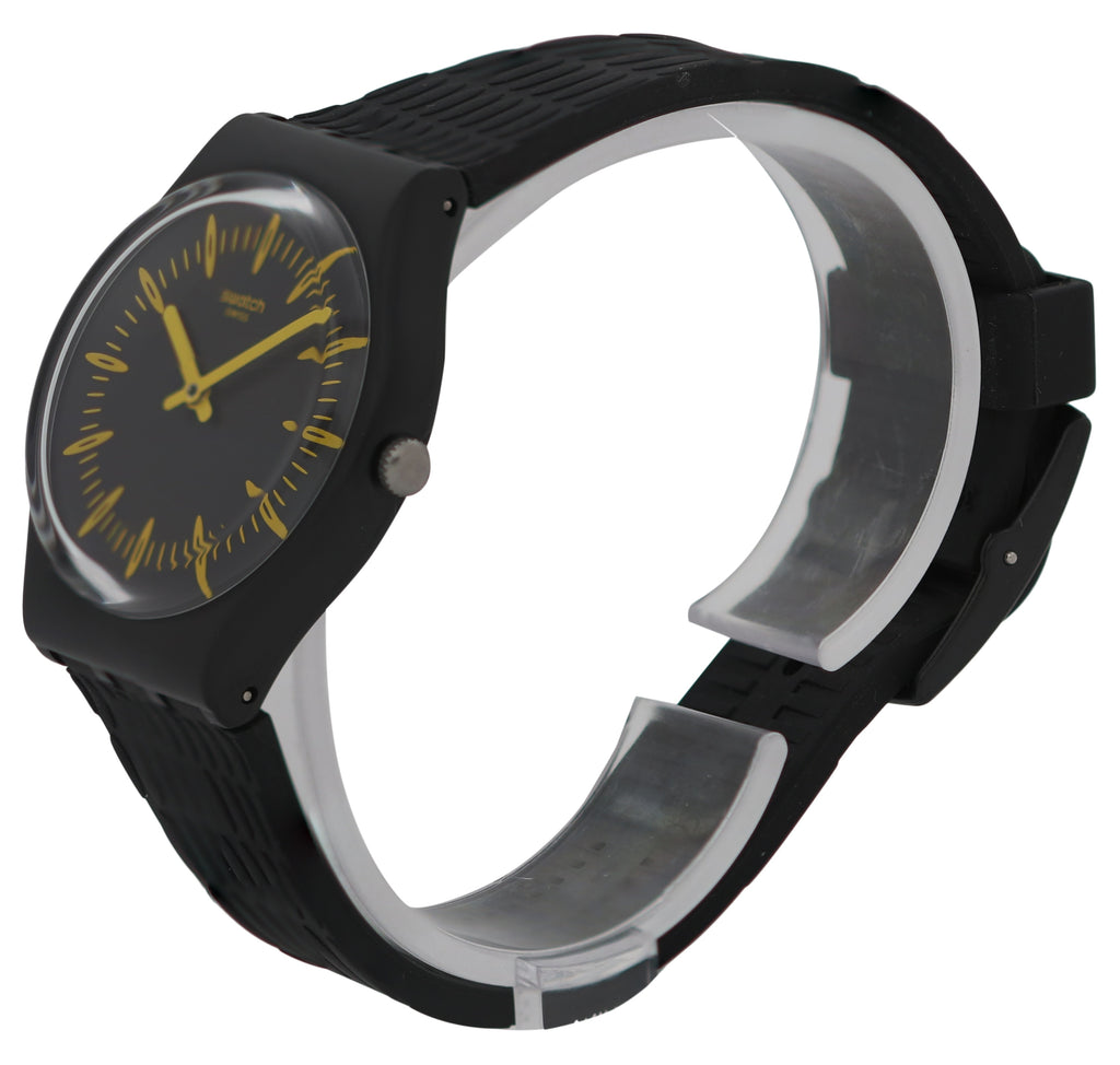 Swatch GIALLONERO Silicone Unisex Watch