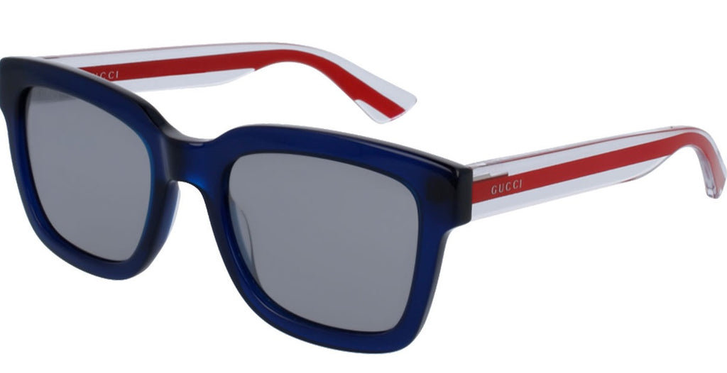 Gucci Havana Blue Mens Sunglasses -