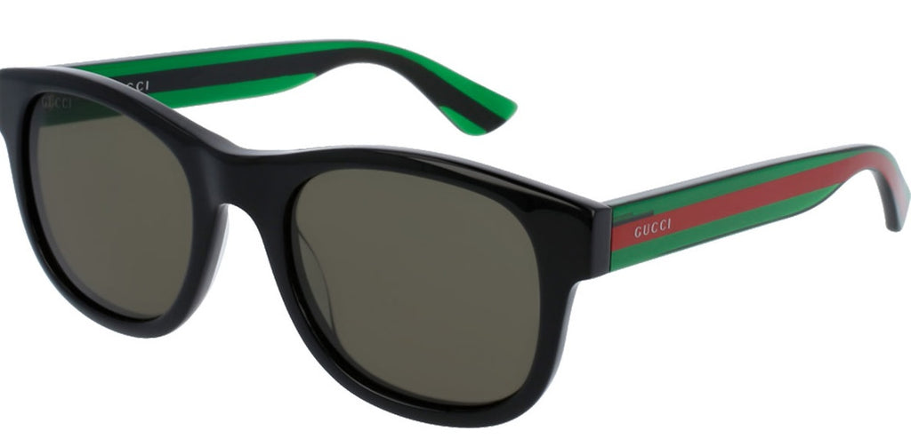 Gucci Black Square Mens Sunglasses -