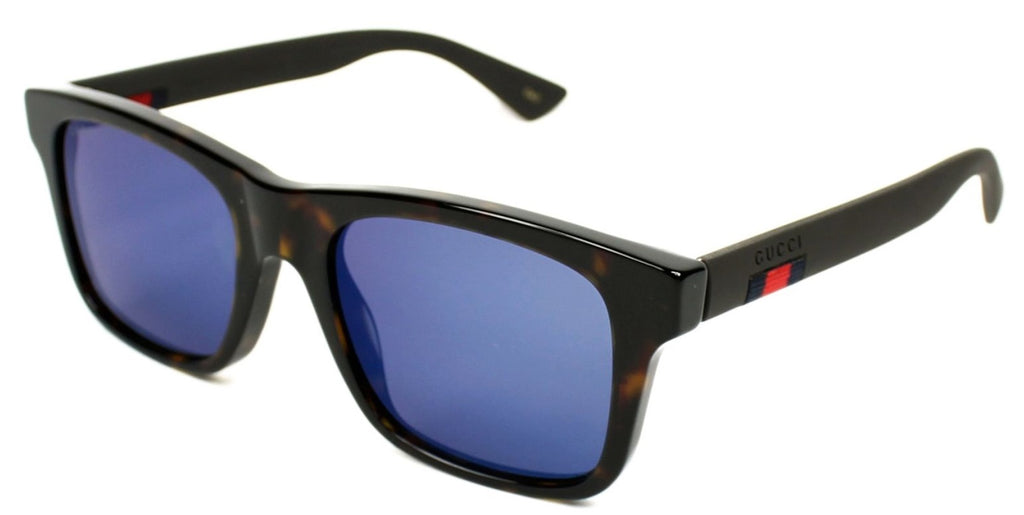 Gucci Blue Mirror Plastic Sunglasses