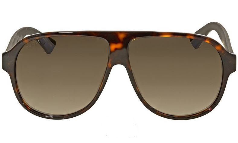 Gucci Dark Havana Aviator Sunglasses