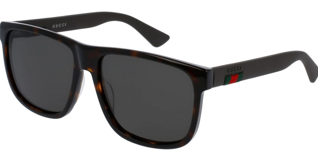Gucci Polarized Grey Square Mens Sunglasses -