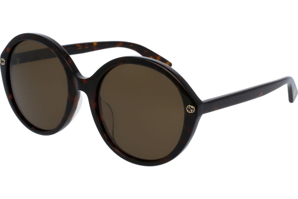 Gucci Havana Black Ladies Sunglasses -