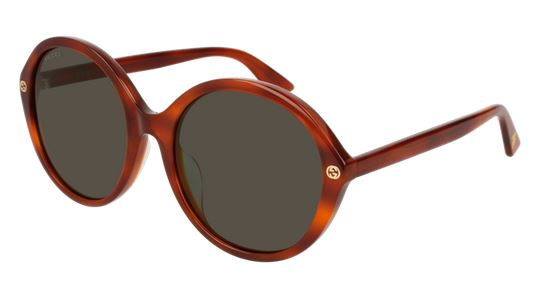 Gucci Brown Round Ladies Sunglasses -