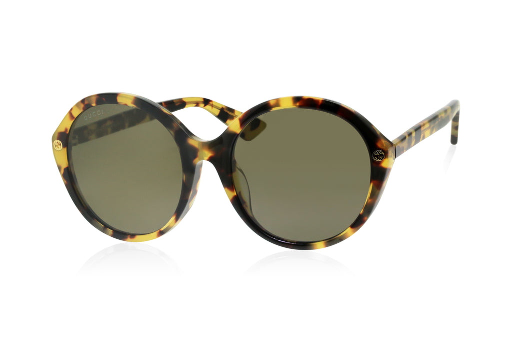 Gucci Havana Ladies Sunglasses
