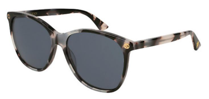 Gucci Havana Round Ladies Sunglasses -