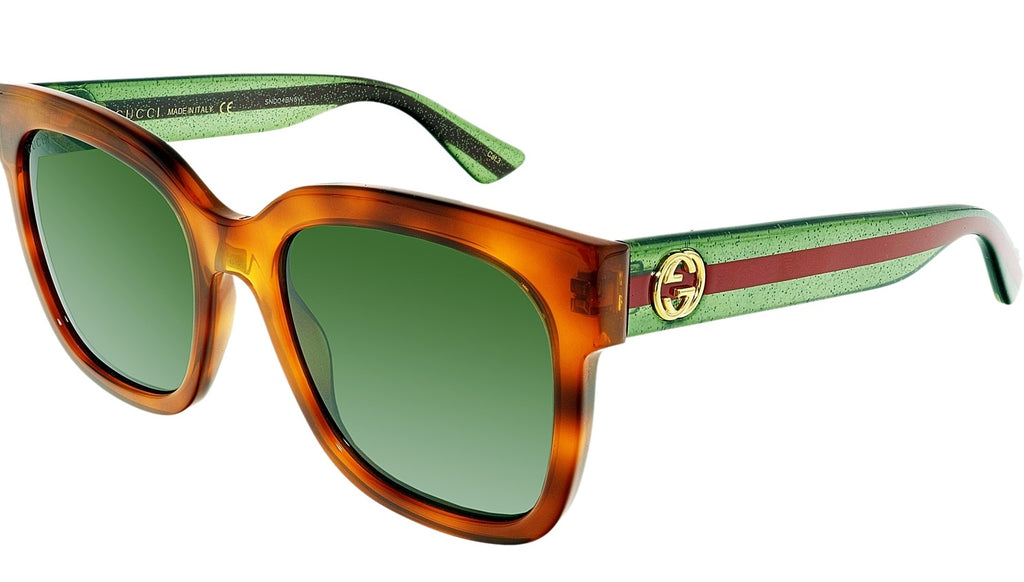 Gucci Brown Square Ladies Sunglasses -