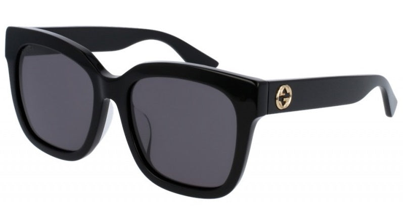 Gucci Black Square Ladies Sunglasses -
