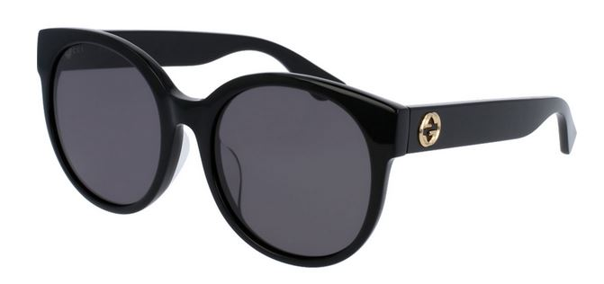 Gucci Black Round Ladies Sunglasses -