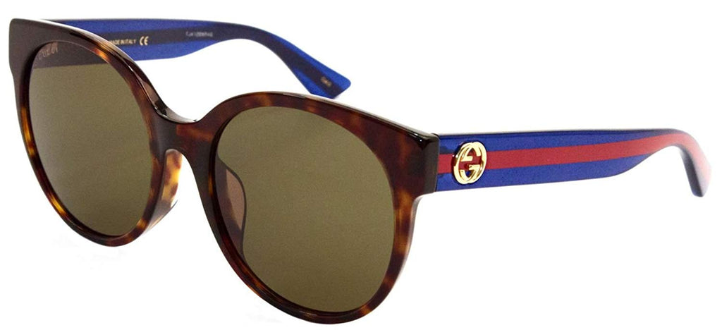 Gucci Havana Blue Brown Ladies Sunglasses -