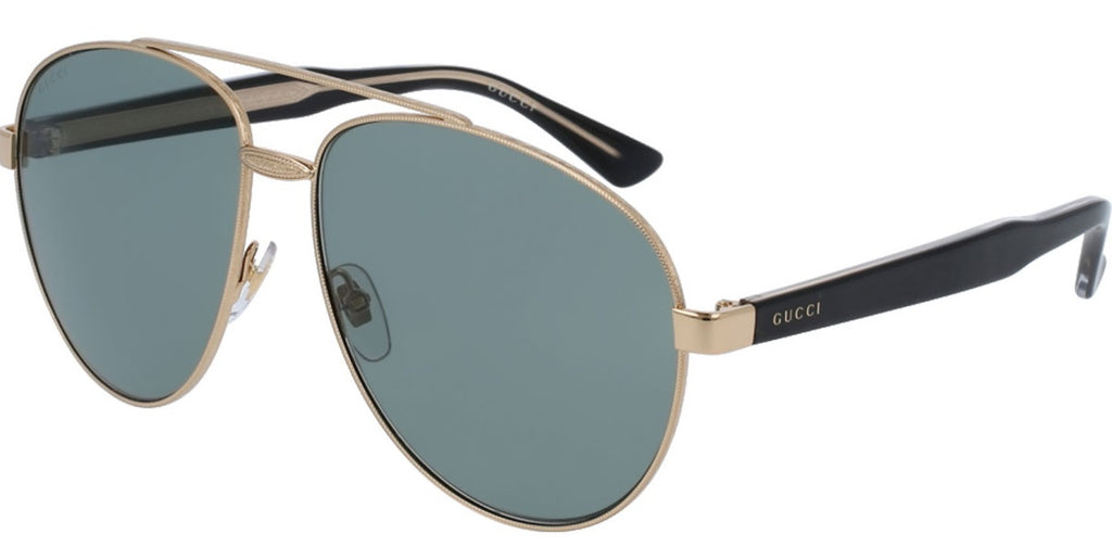 Gucci Pilot Gold Unisex Sunglasses -