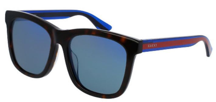 Gucci Havana Blue Ladies Sunglasses -