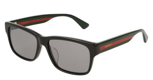 Gucci Black Red Stripe Ladies Sunglasses -