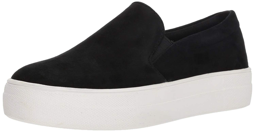 Steve Madden Womens Gills Fashion Sneaker -  Black Suede -  6 M US
