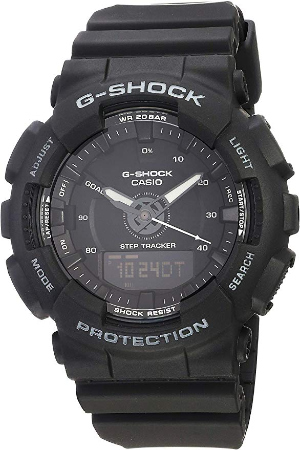 Casio G-Shock S-Series Black Step Tracker Ladies Watch -