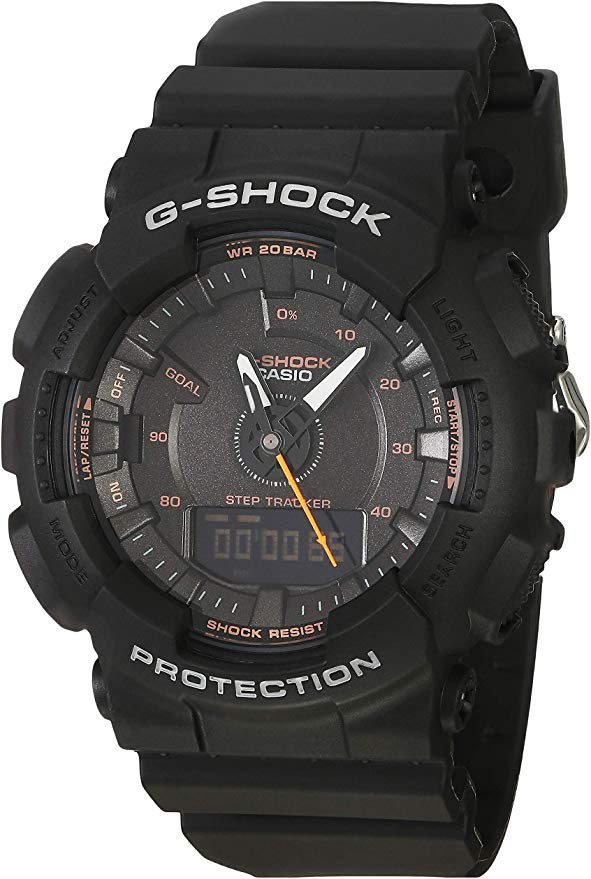 Casio G-Shock S-Series Step Tracker Black Watch -