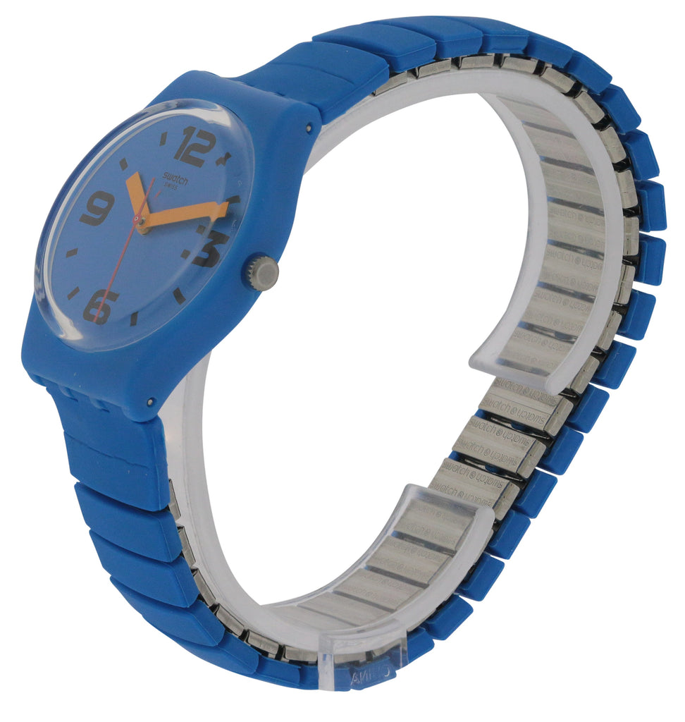 Swatch Pepeblu Silicone Unisex Watch