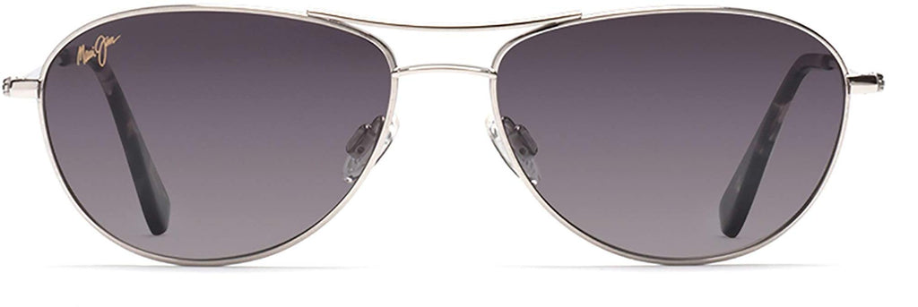 Maui Jim Baby Beach Aviator Sunglasses - Silver Frame/Neutral Grey