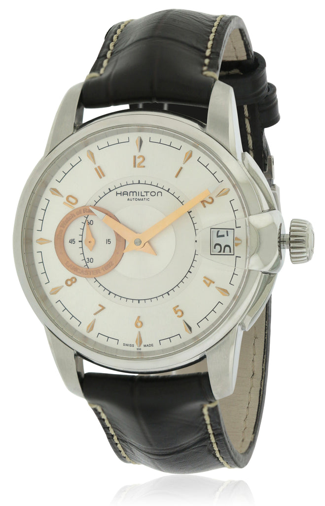 Hamilton Timeless Classic Railroad Automatic Leather Mens Watch
