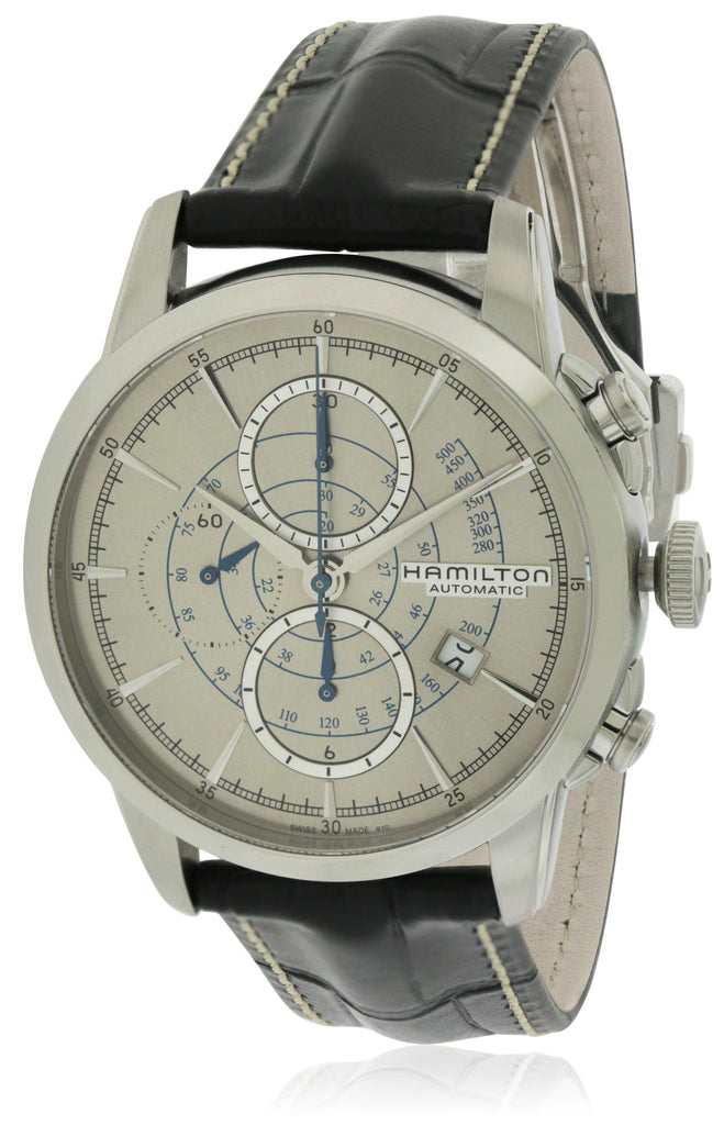 Hamilton Railroad Chronograph Automatic Leather Mens Watch