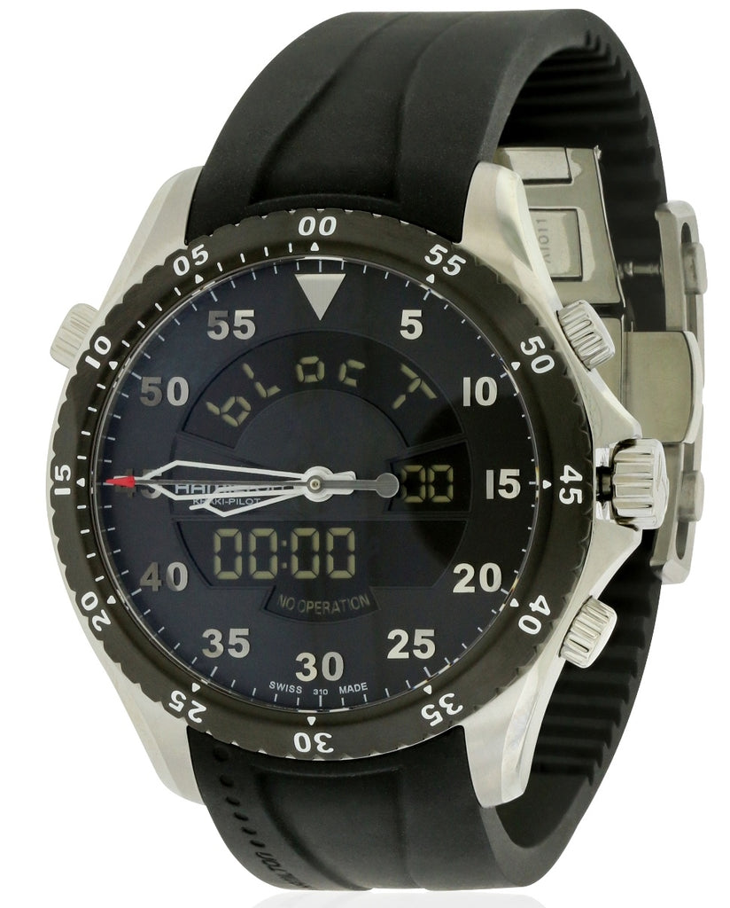 Hamilton Flight Timer Rubber Chronograph Mens Watch