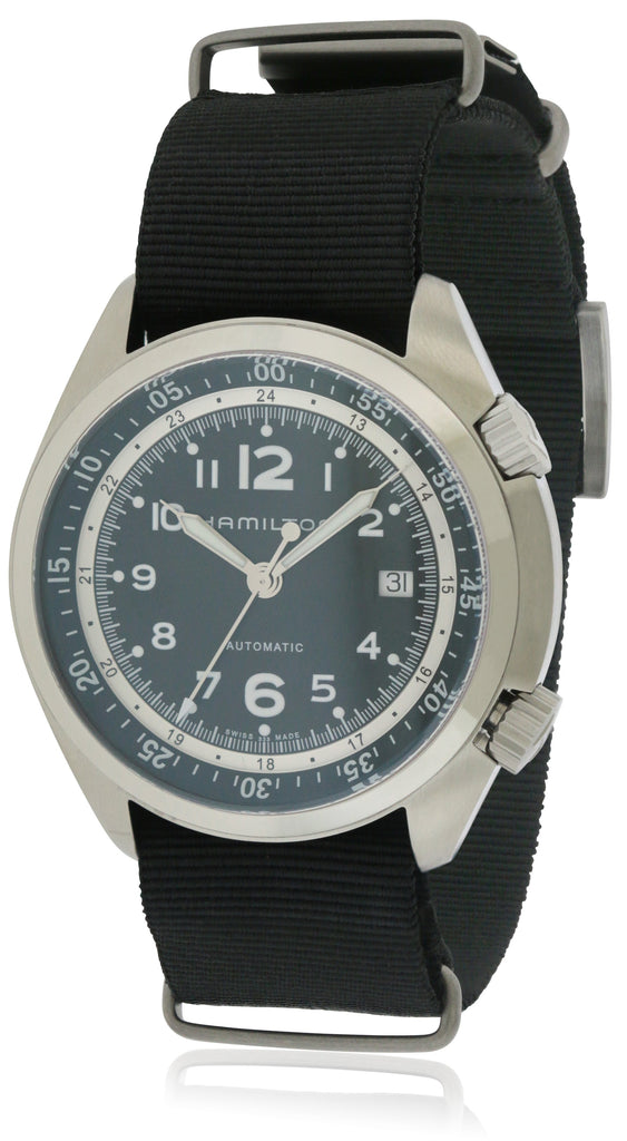 Hamilton Khaki Pilot Pioneer Automatic Leather Mens Watch