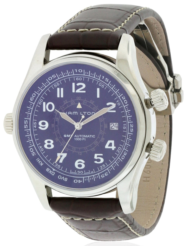 Hamilton Khaki Navi UTC Automatic Leather Mens Watch