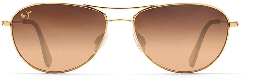 Maui Jim Baby Beach Aviator Sunglasses - Gold Frame/HCL Bronze Lens