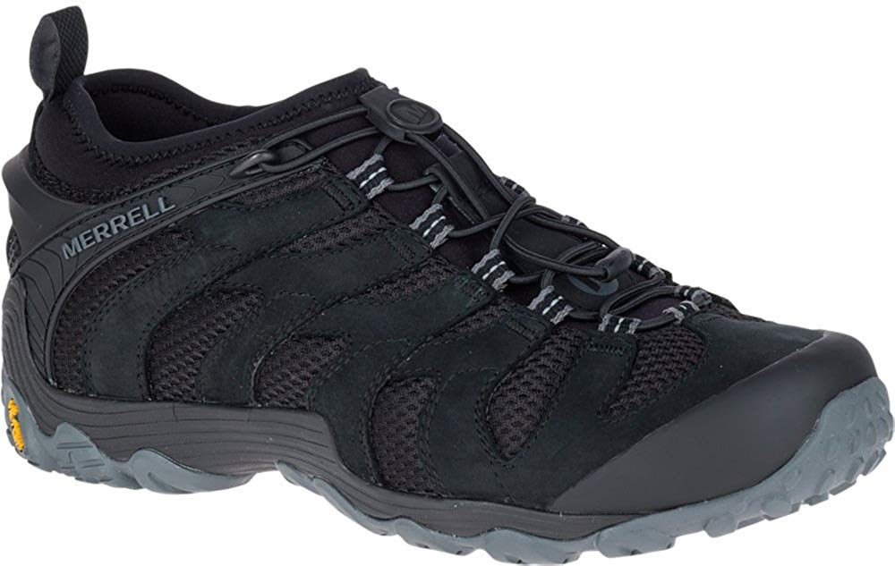Merrell Mens Chameleon 7 Stretch Hiking Shoe - black - 11.5M