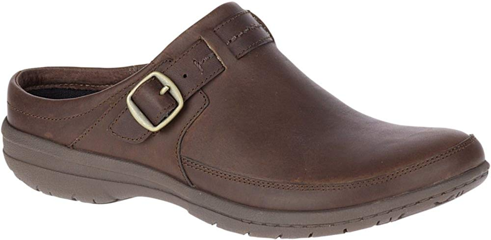 Merrell Womens Encore Kassie Buckle Slide Clog - Dark Earth - 6M