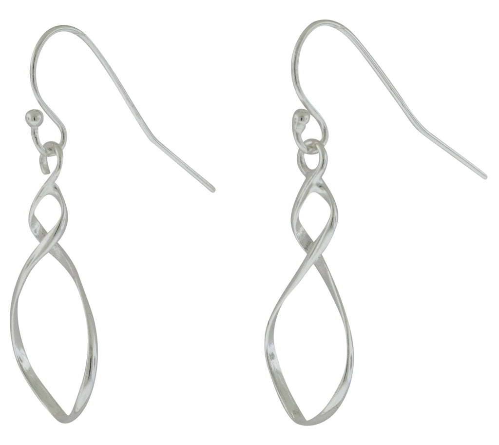 Sterling Silver Fish Hook Infinity Earrings -