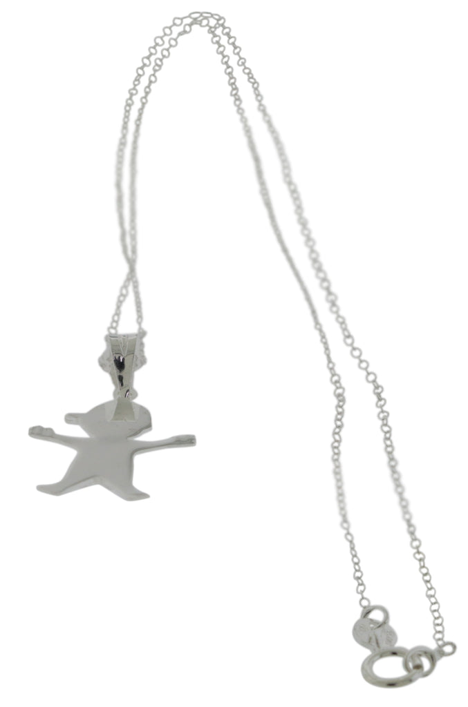 Sterling Silver Boy Pendant wih Chain -