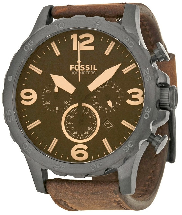 Fossil Nate Chronograph Leather Mens Watch