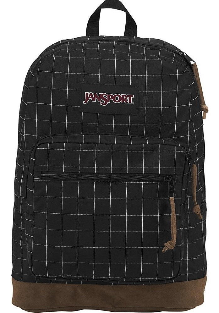 JanSport Right Pack Digital Edition Laptop Backpack - Micro Grid Red -