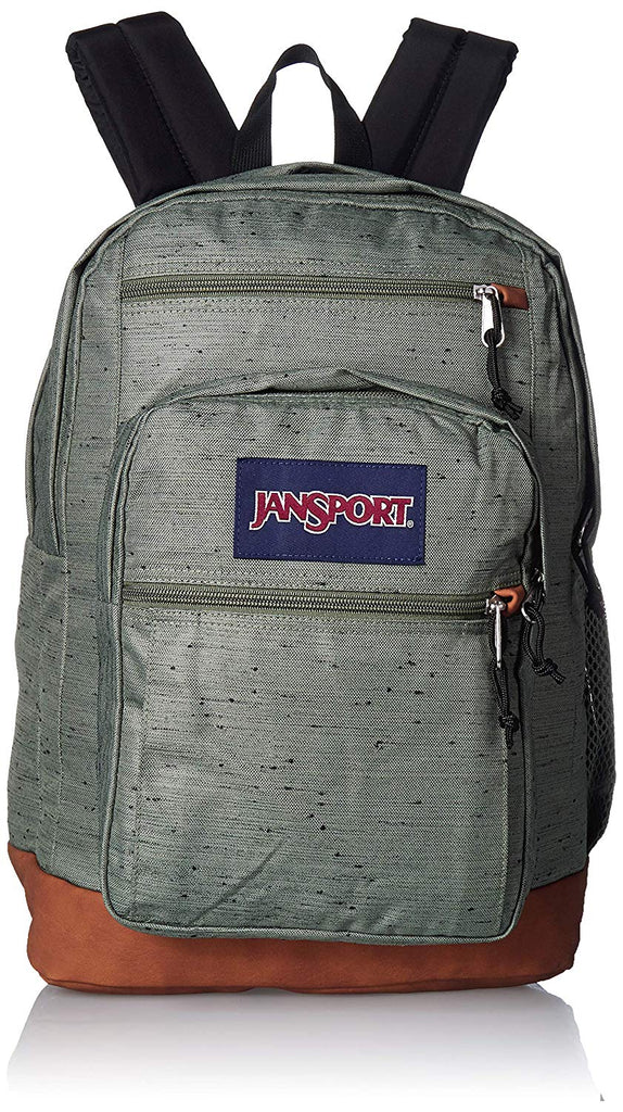 JanSport Cool Student Backpack - Muted Green Plain Weave