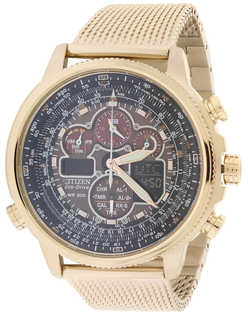 Citizen Navihawk A-T Perpetual Atomic Chronograph Mens Watch