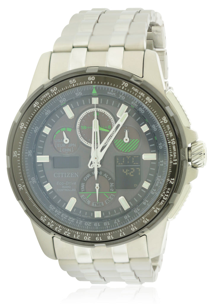 Citizen Eco-Drive Skyhawk Chronograph Mens Watch