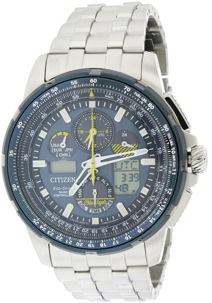 Citizen Eco-Drive Skyhawk Blue Angels A-T Perpetual Mens Watch