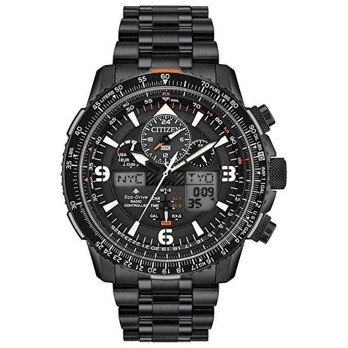 Citizen Eco-Drive Promaster Skyhawk A-T Chronograph Black Mens Watch