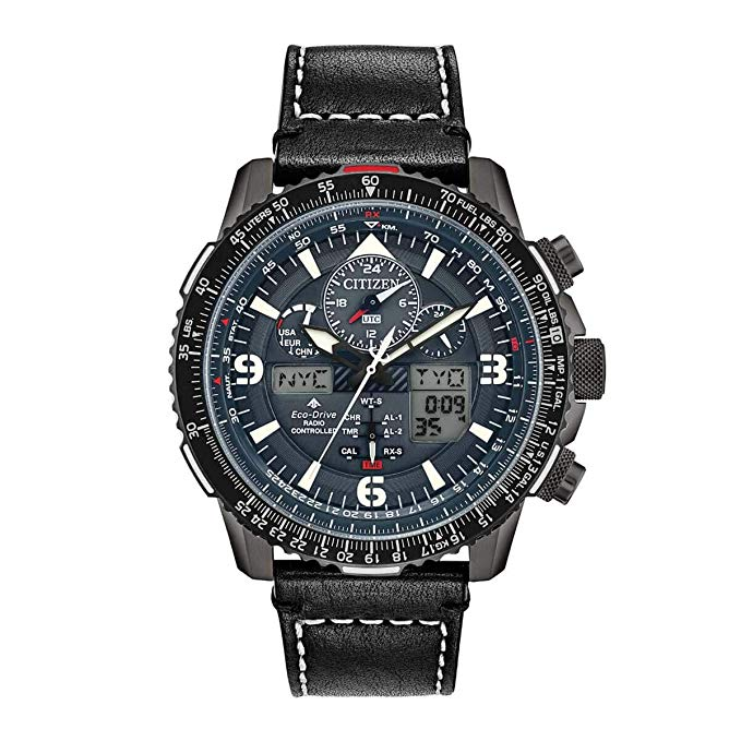 Citizen Eco-Drive Promaster Skyhawk A-T Leather Mens Watch
