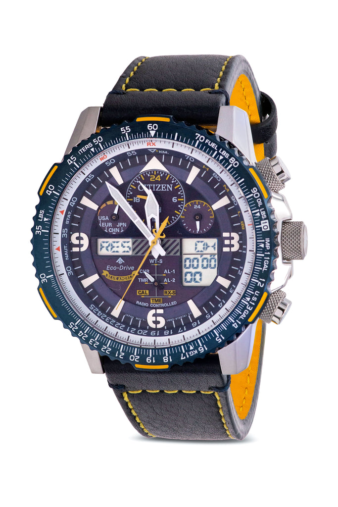 Citizen Eco-Drive Promaster Skyhawk AT Chronograph Leather Mens Watch